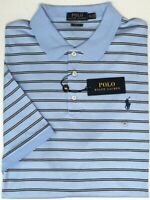 NEW $98 Polo Ralph Lauren Light Blue Mens Short Sleeve Classic Fit Shirt Striped
