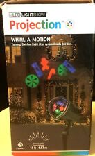 Gemmy LED Light Show Projection Whirl-A-Motion NEW