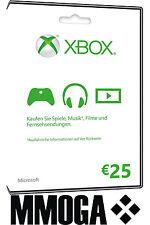 Microsoft Xbox Live 25 Euro Card - MS Xbox 360 & One 25 € Guthaben Karte [EU]