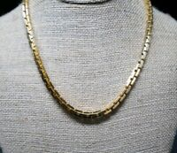 Vintage Monet Gold Tone Chunky Link Necklace 16-17.5""