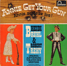 "HEIDI BRÜHL & ROBERT TREHY – Annie Get Your Gun (1963 VINYL EP 7"" GERMANY)"