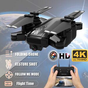 New H1 2.4G 4K 1080P Drone Selfie FPV HD Camera Foldable RC Quadcopte