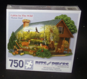 Bits And Pieces Puzzle Cabin In The Woods Shaped Puzzle New 750 pcs