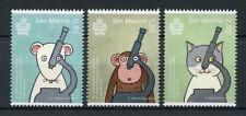 San Marino 2017 MNH Animal Testing Prohibition 3v Set Cats Mice Monkeys Stamps