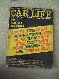 Vintage August 1960 Car Life Automotive Magazine