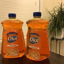 2 NEW 52oz Dial Antibact Orange Gold Liquid Hand Soap Refill
