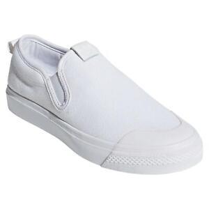 Adidas Originaux FEMMES Agréable à Enfiler Baskets Chaussures Blanc Skateur Neuf
