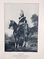 Vautier Fourrier 3ème Dragons Carnet de la Sabretache 1900 Uniformes Militaires
