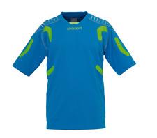 Uhlsport TorwartTECH GK SHORT SLEEVE Soccer Goalie Jersey CYAN Fluo Green XXL