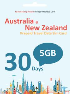 30 days 5GB Vodafone Aust & NZ Prepaid data SIM card 4G/LTE Anonymous Activation