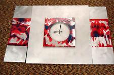 CONTEMPORARY/MODERN STONEYBROOK THREE PIECE BRUSHED ALUMINIUM WALL CLOCK