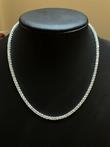 12.12 ct Top Quality F/VS  Natural Round Diamond Tennis Necklace ,18k White Gold