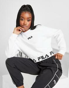 New Fila Women's Repeat Crop Crew Sweatshirt from JD Outlet