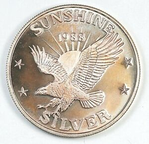 1988 Sunshine Silver Eagle Sunshine Mining 1 oz. .999 Fine Silver Round