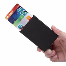 For Metal ID Credit Card Holder RFID Protector Aluminum Wallet Card Case Black