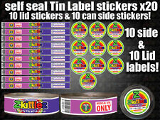 10x RX Medical Cannabis ZKITTLEZ Cali Tin Labels Stickers Marijuana weed CALI