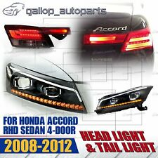 DRL Projector Headlight & Taillight Set For Honda Accord CP 2008-2012