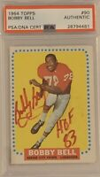 1964 TOPPS Bobby Bell ROOKIE RC AUTO AUTOGRAPH PSA DNA #90 HOF Hall Of Fame #2