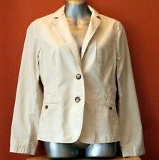 TALBOTS Women's Beige 100% Cotton SPRING Blazer Jacket Size 12P