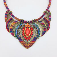 Fashion Women Boho Choker Statement Necklace Tribal Ethnic Jewelry Gift