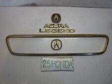 1994-1995 Acura Legend 4 Door Sedan Grill Gold Package Emblem Set KA7 KA8 Rare