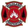 Wildland Firefighter Very Small Maltese Cross Reflective Helmet Decal Sticker