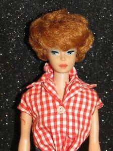 Vintage Original 1960's Titan Redhead Bubblecut Barbie W/Tagged Barbie Outfit