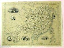 OLD MAP CHINESE SOLDIERS SEA BAY BENGAL CHINA & BURMAH TALLIS RAPKIN WRAY ALLEN