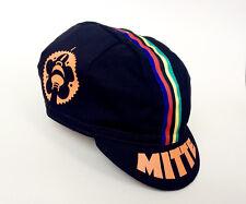 Rennrad-Mütze L, Cycling Vintage Cap, MITTE schwarz, Retro Fixed Singlespeed