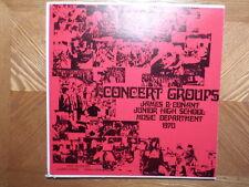 DIRECTOR RECORD LP /JAMES B CONANT JUNIOR HIGH CONCERT GROUPS/BLOBAUM CIORBA/ VG