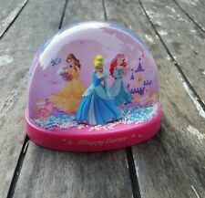 Disney Cinderella Pink Snow Globe HAPPY EASTER 3 PRINCESSES Collectible