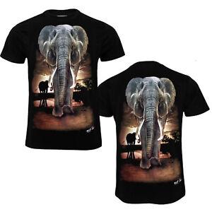 Unisex T-Shirt Elephant  Both Side Print 100% cotton