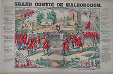 Rare Vintage Imagerie Epinal Pellerin print/Grand Convoi de Malborough INV2310