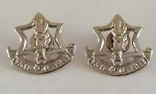 IDF Israeli Army Lot of 2  Silver Tone Air Force Lapel Pins Old Type Screwed