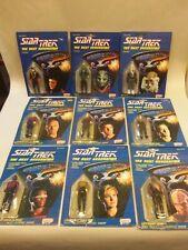 Lot of (9) 1988 Galoob STAR TREK The Next Generation Action Figures