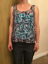Pull And Bear Floral See Through Vest Top - Size Small