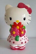 Hello Kitty Ballerina Flower Princess Ceramic Coin Bank Pink White 2013 Sanrio