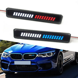 LED Light Car Front Grille Badge Illuminated Decal Stickers Decor Lamp