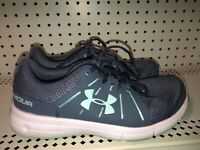 Under Armour Dash 2 Womens Athletic Running Training Shoes Size 9.5 Gray Blue