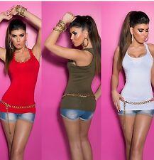 Damen-Trägertops mit Rundhals Damenblusen, - tops & -shirts für Party-Anlässe