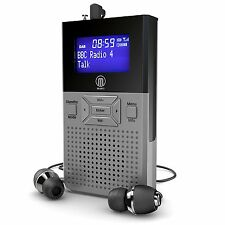 Portable Pocket Personal DAB Digital FM Radio Rechargeable With Speaker