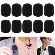 10x Headset Mini Mikrofon Windschutz Popschutz Schwamm Windschutzscheibe Schwarz