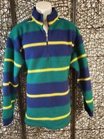 EDDIE BAUER EBTEK MENS LONG SLEEVE 1/3 ZIP FLEECE PULLOVER SHIRT SIZE L TALL
