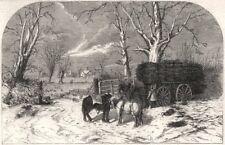 Carting faggots for Christmas: a scene at Chessington, near Epsom. London, 1859