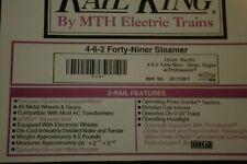 M.T.H. Union Pacific 49er. train set, engine, 4 passenger car set, xtra 2 cars