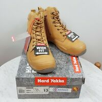 HARD YAKKA Mens Size 13 AU Utility 6Z Wide Fit / Steel Cap Safety Boots NEW