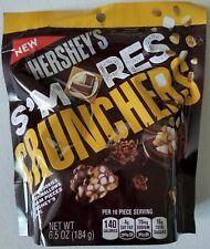 NEW HERSHEY'S S'MORES CRUNCHERS CHOCOLATE CANDIES 6.5 OZ BAG FREE WORLD SHIPPING