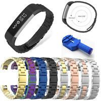 Luxury Electroplate Stainless Metal Watch Band Wrist Strap For Fitbit Alta / HR