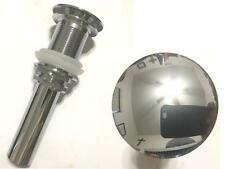 Chrome Pop Up Drain All Metal Push Button For Standard & Vessel Sinks