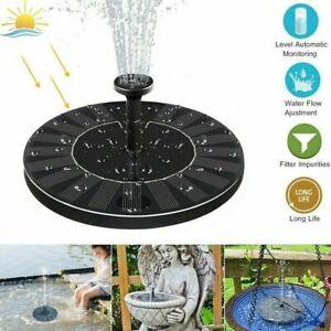 SolarPumpe Teichpumpe Solar Springbrunnen Wasserspiel Zierbrunnen Fontäne Garten